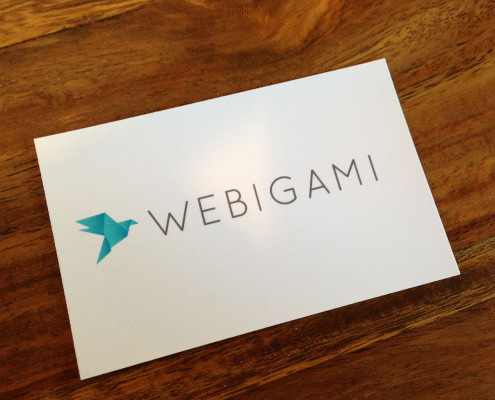 WEBIGAMI Business Card Back