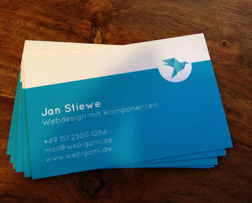 WEBIGAMI Business Card Front
